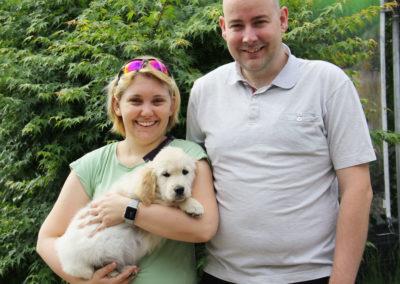 Percy mit Corinne und Fabian